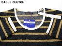 L 【SABLE CLUTCH BOEDER PILE TEE セーブルクラッチ ボーダーパイルTシャツ】SC54-006