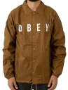 Obey Anyway Coaches Jacket Tapenade M コーチジャケット 送料無料