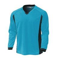 ウンドウ wundou ベーシックロングスリーブサッカーシャツ  P1930-02 ターコイズ サッカーの画像