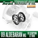 Avail(アベイル) 09アルデバランMg・10スコーピオンXT1000用 軽量浅溝スプール Avail Microcast Spool ALD0936RR (溝深さ3.6mm) ブラック *