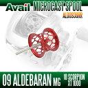 Avail(アベイル) 09アルデバランMg・10スコーピオンXT1000用 軽量浅溝スプール Avail Microcast Spool ALD0936RR (溝深さ3.6mm) レッド *