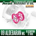 Avail(アベイル) 09アルデバランMg・10スコーピオンXT1000用 軽量浅溝スプール Avail Microcast Spool ALD0936RR (溝深さ3.6mm) ピンク *