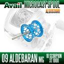 Avail(アベイル) 09アルデバランMg・10スコーピオンXT1000用 軽量浅溝スプール Avail Microcast Spool ALD0936RR (溝深さ3.6mm) スカイブルー *