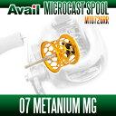 Avail(アベイル) 07メタニウムMg用 NEW軽量浅溝ハニカムスプール Avail Microcast Spool MT0726RR (溝深さ2.6mm) ゴールド *