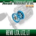 Avail(アベイル) 【Abu/アブ】 Revo・レボ LTX・LTZ・LT用 軽量浅溝スプール Avail Microcast Spool RVLTX32RR (溝深さ3.2mm) スカイブルー *