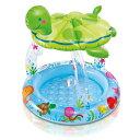 【あす楽対応】大型玩具 INTEX(インテックス) プール Sea Turtle Shade Baby Pool(シータートル シェードベビープール)