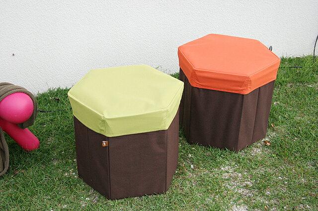 2色対応!【1位:人気スツール クッション付き収納付き】グリーン:オレンジ:2色 スツール キッズ 一人暮らし ファミリー 子供部屋 【02P03Dec16】
