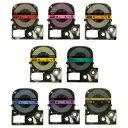 【メール便対応】キングジム テプラPROテープカートリッジ カラーラベル(パステル) 9mm幅 SC9