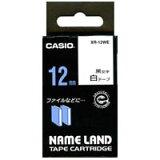 【メール便不可】カシオ ネームランド テープカートリッジ12mm幅/白テープ/黒文字 XR-12WE