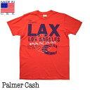 メンズ アメリカ製 Tシャツ Palmer Cash【パルマーキャッシュ】M01-PAN018 Pan Am LAX T-Shirt パンナム ラックス Tシャツ