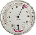 メール便 代金引換不可 ドリテック 温湿度計 ホワイト O-310WT