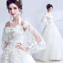 【送料無料】高品質 ウエディングドレス ホワイト ロングドレス パーティードレス 豪