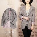 ショッピングアウター グレンチェックジャケット アングリッド コート ジャケット 高品質 レデイース 流行 ファッション おしゃれ 162375