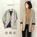 ショッピングチェック グレンチェックジャケット アングリッド コート ジャケット レデイース 流行 ファッション おしゃれ グレンチェック トップス テーラード 162373
