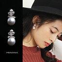 ショッピングパール 女王の輝く クラウン パール ピアス アクセサリー プレゼント レディース キラキラ ファッション アクセサリー真珠ピアス パールピアス 可愛いピアス かわいいピアス 162400
