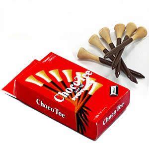 Joke Funny Golf Tee (Chocolate with a box, chocolate cinnamon odor, wooden, 70mm×12)