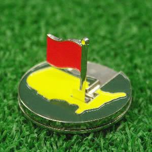 おもしろゴルフマーカー マスターズ フリップアップマーカー[ゴルフ マーカー ボールマーカ…...:henkaq:10001287