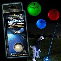 光るゴルフボール ライトアップゴルフボール 3色セット[golf balls][ゴルフコンペ景品 ゴルフコンペ 景品 賞品 コンペ賞品][ゴルフ用品 グッズ ギフト プレゼント]の画像