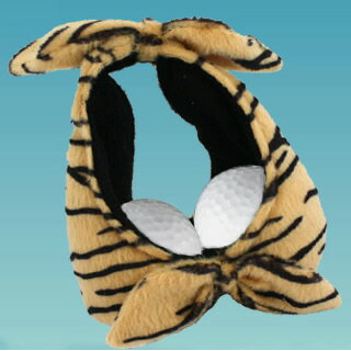 Cute & Funny Tiger Pattern Bra Golf Ball Holder  ( Holds Up To 2 Balls)