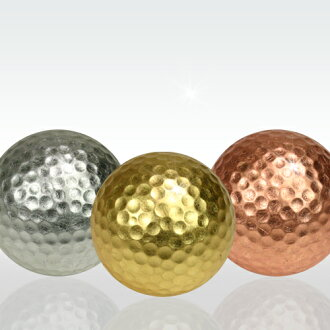Gold, silver, and copper foil Golf medalist 3 piece set