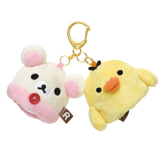 KORILAKKUMA & KIIROITORI (RILAKKUMA series) Golf Ball Holder (Pouch, Holds Up To 2 Balls)