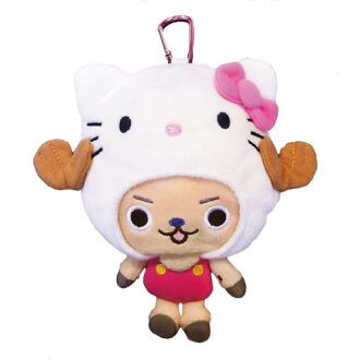One piece x ball Kitty ( ONE PIECE X HELLO KITTY ) chopper Poch (3 pieces for) fs3gm