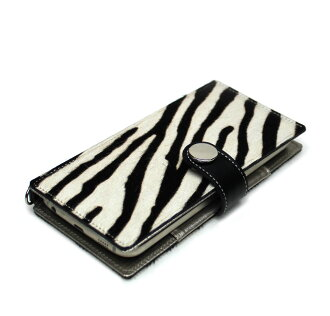 All models support leather cover case notebook type animal ROE Leopard Cheetah Dalmatian Zebra back and tie / leather black