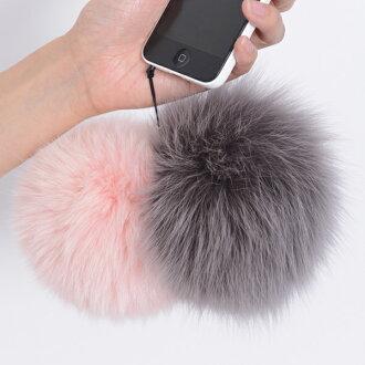 Choose from 20 different colors fox fur strap スマホピアス / strap bonbori Keychain accessories