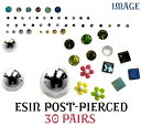 An email service is free shipping in 30 kinds of resin post pierced earrings set (30 kinds of pairs) ▼ 2,100 yen or more▼