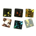 (◇ pair) In resin post pierced earrings 3mm square Y63- pair (two) ▼ 2,100 yen or more email service free shipping ▼【 RCP 】
