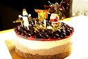 糖質制限ブルーベリーのチョコとカスタードケーキ クリスマスバージョン 直径15cm
