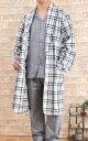 暖かフリースチェックガウン メンズ 【冬向き素材】【男性用】【入院準備】【ローブ】【ギフト】
