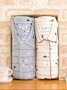 ペアパジャマ 肌にやさしい綿100%スムースニット地白くま柄【長袖・長パンツ】【春