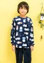 パジャマ 男の子 長袖 冬 暖かモコモコ白くまさん130cm/140cm/150cm/160cm 前開き