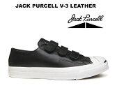 コンバース ジャックパーセル ベルクロ レザー CONVERSE JACK PURCELL V-3 LEATHER ブラック