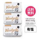 有塩 グラスフェッド バター 450g×3個【冷蔵/冷凍可】 ニュージーランド産 ウエストゴールド
