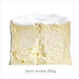フランス産/乳脂肪分が最強!まるでバターのような白カビタイプのチーズです!サンタンドレ【業務用200g】【冷蔵のみ】【D+2】【お届けまでお時間を頂く場合がございます】