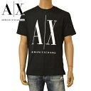 Tシャツ アルマーニエクスチェンジ メンズ ARMANI EXCHANGE ロゴ 半袖 eax20s004 8NZTPA ZJH4Z ブラック