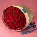 【日比谷花壇】100本の赤バラの花束「アニバーサリーローズ」【ネット限定】