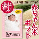 【出産内祝い】女の子用 写真入り 岐阜県飛騨高山産 有機肥料使用 コシヒカリ ギフト 赤ちゃん体重