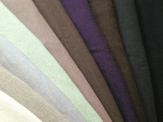 YUWA linen plain weave solid 10 colors