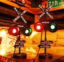 レイルロードサイン ■ 踏み切り オブジェ インテリアライト 信号機 ガレージ アメリカン雑貨