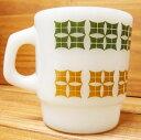 【マグカップ】ファイヤーキング Fire-King ピンウィール (緑茶) ■ アメリカン雑貨 アンカーホッキング 【あす楽対応】