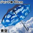 【送料無料】ジャンプ傘 青空 60cm×8本骨 【LIEBEN-0480】 (ブルースカイ) かさ/カサ/男女兼用/メンズ/レディース