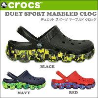 crs-049��CROCS/����å����ۥ������DUETSPORTMARBLEDCLOG�ǥ奨�åȥ��ݡ��ĥޡ��֥�ɥ���å����ǥ�������˥��å���CROCS����å�������������������