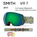 2017スミスSMITHOPTICSゴーグルI/O7CoForestWoolrichGreenSol-XMirror/RedSensorMirror【ゴーグル】ミディアムフィットアジアンフィット