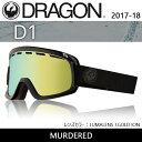 2018 DRAGON ドラゴン A01 D1 MURDERED/LUMALENS J.GOLD ION 【ゴーグル】ジャパンフィット