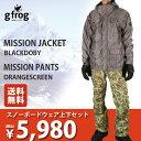 【全品カードで+7倍】gfrog MISSION JACKET BLACKDOBY× MISSION PANTS ORANGESCREEN メンズ 【特価ウェア...