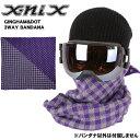 X-niX エクスニクス バンダナ GINGHAM&DOT 3WAY BANDANA XNWB9775 PU 【メール便・代引不可】