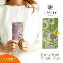 全機種対応 手帳型 かわいい 花柄 「リバティ Small sus グリーン」スマホケース 左利き対応 右開き 本革 カメラ穴 HIGHCAMP